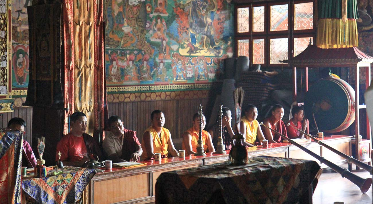 The elaborate ritual of Tibetan Buddhism