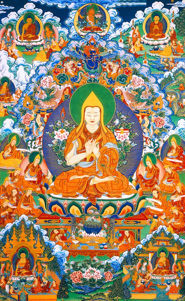 Tsongkhapa founder of the Gelug Pa sect